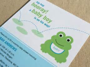 frog baby shower invitation printable baby shower invitation