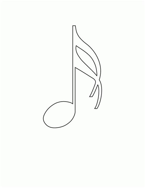 Musical Notes Coloring Pages Coloring Home Note Coloring Pages