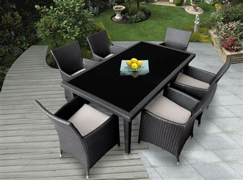 Ohana Outdoor Furniture by Genuine Ohana Outdoor Patio Wicker Furniture 7pc All Weather Dining Set Review Best Patio