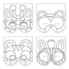 jungle animal mask templates 10 minute costume mask design free printable