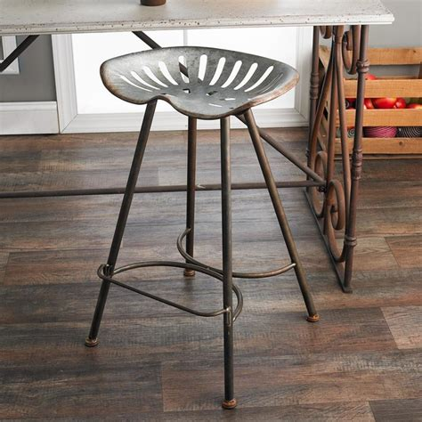 Tractor Seat Bar Stool Galvanized Metal Tractor Seat Barstool Bar Stools And Counter Stools By Shades Of Light