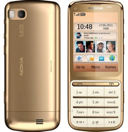 themes nokia gold nokia launches the c3 01 gold edition