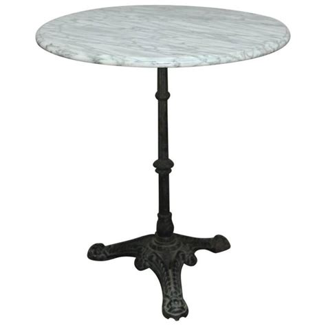 Parisian Bistro Table Parisian Marble Top Bistro Table At 1stdibs