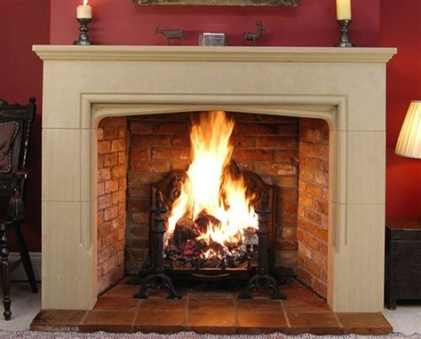 Sandstone Fireplace by Fireplaces Masonry Products
