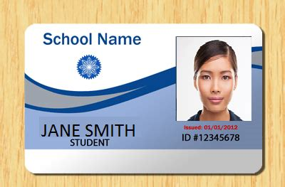 student id card photoshop template student id card template psd id card template psd 1035175
