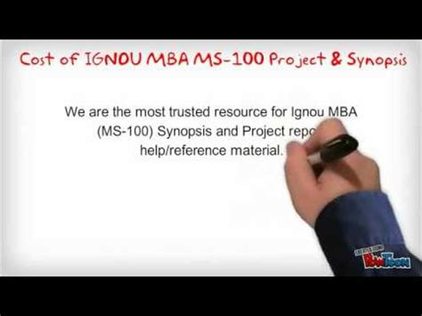 Ignou Mba Project Free by Ignou Ms 100 Mba Synopsis And Projects Presentation