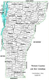 map of counties and cities map of vermont counties and towns