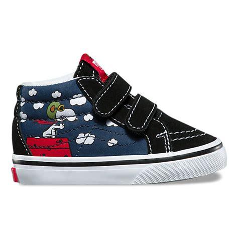 Sepatu Vans Sk8 Peanuts toddler vans x peanuts sk8 mid reissue v shop shoes at vans