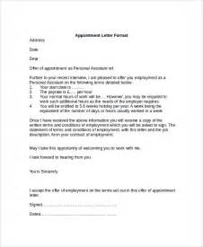 Appointment Getting Letter Sample Letter Format 21 Documents In Pdf Word