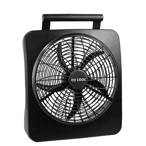 o2cool 10 inch battery or electric portable fan o2cool 10 in portable fan 1071 the home depot