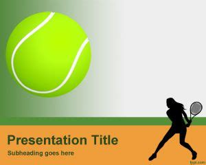free tennis ball powerpoint template