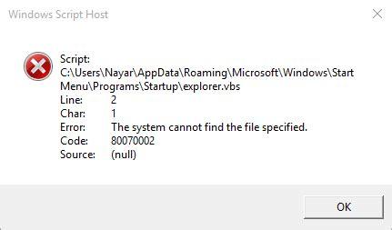 windows startup issue .vbs script autorun microsoft