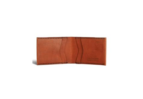 Handcrafted Leather Wallet - tailfeather goods handcrafted kangaroo leather wallet