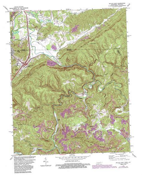 jellico kentucky map jellico east topographic map tn ky usgs topo 36084e1