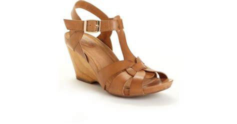 Khidima Light Brown Sneaker Wedges lyst clarks artisan willos wedge sandals in brown