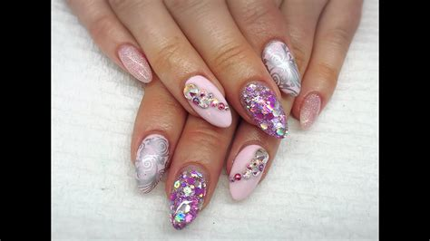 acrylic nails sassy baby pink youtube
