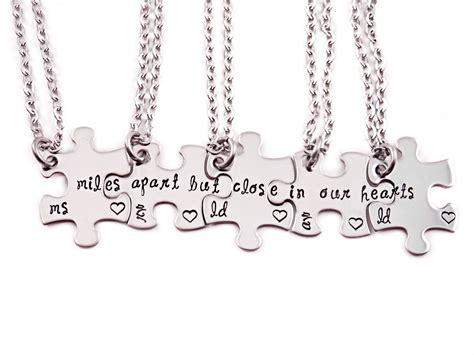 4 piece l set 64 puzzle piece necklace set of 4 its always better when