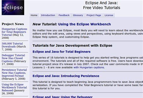 kumpulan tutorial java netbeans programming kumpulan video tutorial mengenai eclipse dan