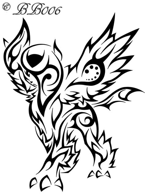 deviantart tattoo tribal mega absol by blackbutterfly006 on deviantart
