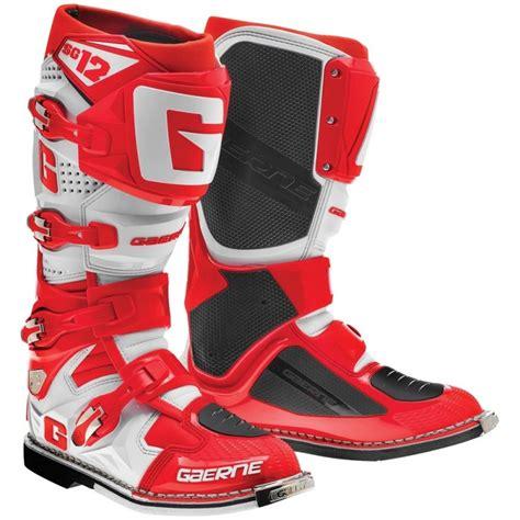 gaerne sg12 motocross boots 2016 gaerne sg12 motocross boots red white puremx