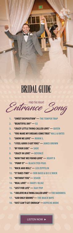 Wedding Song For Entrance Of The by Wedding Reception Tips Diy Wedding Ideas