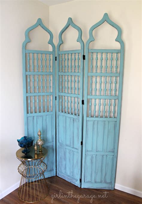 Vintage Room Divider with Makeover For A Vintage Room Divider One Artsy