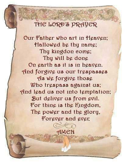 The Lord Prayer the lord s prayer a pastor s thoughts