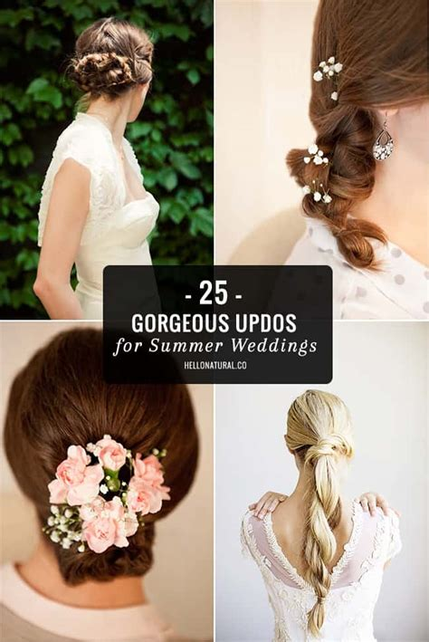 25 gorgeous updos for summer weddings hello glow