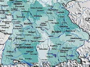 Map Of Southern Germany by Detailed Map Of South Germany