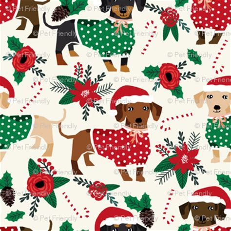 wallpaper christmas material doxie christmas fabrics cute dachshunds fabric best doxie