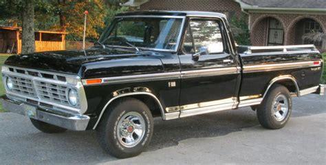 1975 ford f100 ranger newly restored vintage 1975 ford f100 xlt ranger black