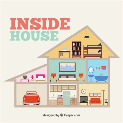 Home Inside inside house vector free download
