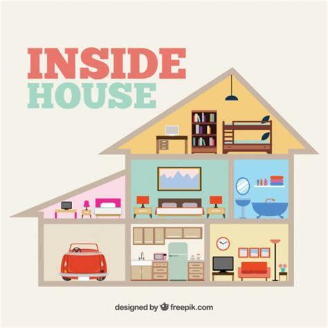 house inside inside house vector free