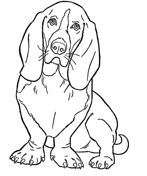coloring pages big dogs free printable dog coloring pages for kids