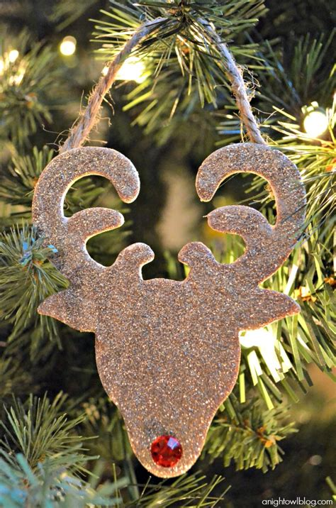 glitter reindeer ornaments a night owl blog