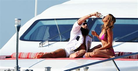 sex in house boat sacha baron cohen causes a scene on luxury yacht in cannes