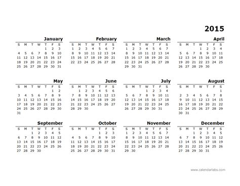 yearly calendar 2015 template search results for calendar template monday start 2015