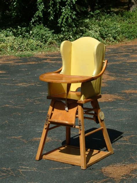 Vintage Convertible High Chair by Vintage Wood High Chair Convertible Retro Wood High