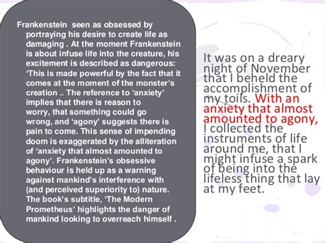 analysis of frankenstein chapter 8 7 frankenstein find quotes qqt