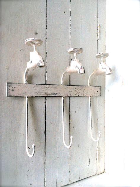 shabby chic bathroom decor towel hook towel by honeywoodhome