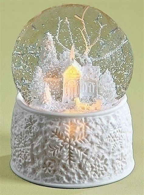 snow globes quot white christmas quot snow globe lighted