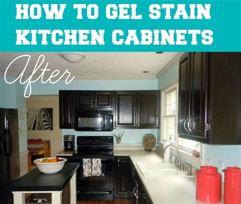 how to stain kitchen cabinets on how to gel stain