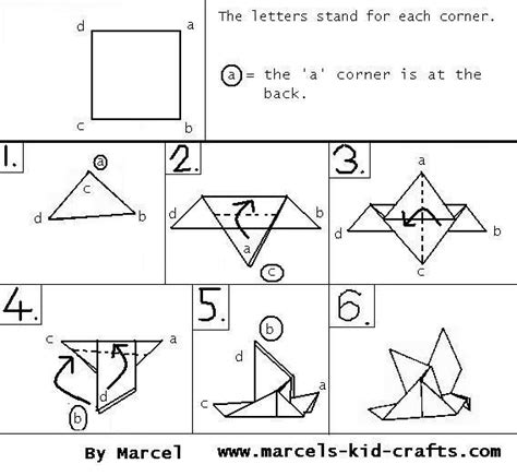 Origami Bird Pattern - complex origami diagrams 171 embroidery origami