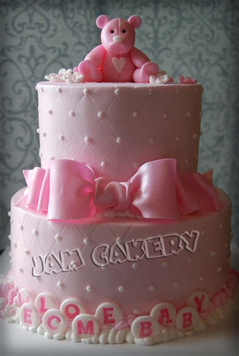 Pink Baby Shower Cake Pictures by Pink Baby Shower Cake J A M Cakery