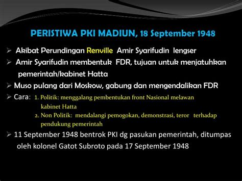 download film pemberontakan pki madiun ppt peristiwa pki madiun 18 september 1948 powerpoint