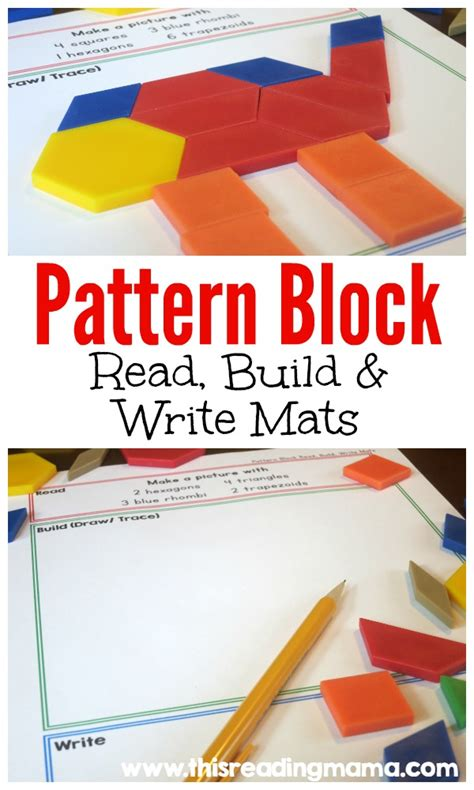 free pattern block read and write mats free homeschool