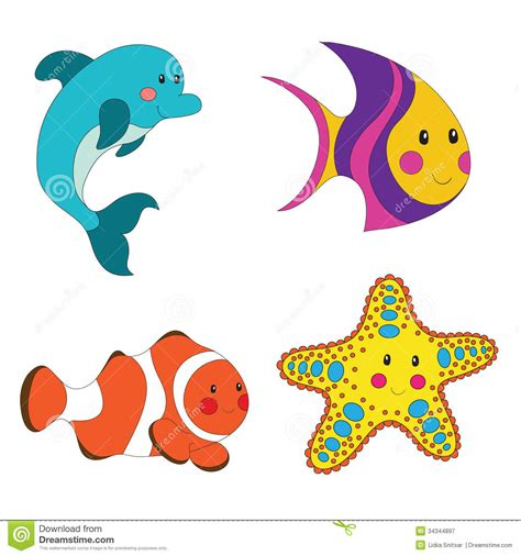animated clipart clipart sea creature pencil and in color