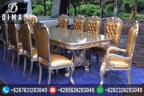Meja Makan Dibawah 1 Juta meja makan klasik mewah duco ukiran jepara terbaru harga murah df 0039 dima furniture jepara