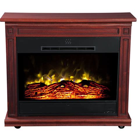 Heat And Glow Fireplaces by Heat Surge Roll N Glow Electric Fireplace Cherry Home