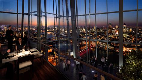 top of the shard bar aqua at the shard london bridge london